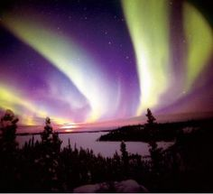 "Aurora Borealis, ""The Northern Lights"" ... nighttime magic."