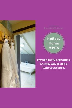 #holidayhomeowners Provide fluffy bathrobes. An easy way to add a luxurious touch