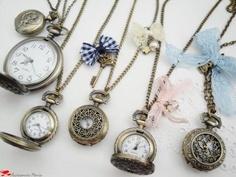Clock Necklaces
