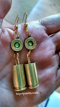 A personal favorite from my Etsy shop https://www.etsy.com/listing/293050727/bullet-earrings-nine-mm-dangle
