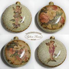 bombka medalion decoupage