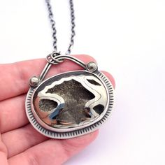 Pyritized Ammonite Fossil Necklace by Erin Austin