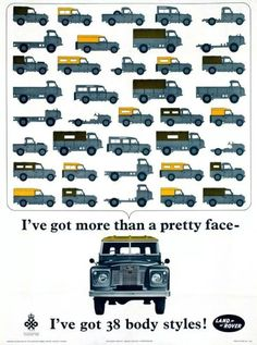 Poster by Anonymous - Land-Rover 38 body styles Poster by Anonymous - Land-Rover 38 body styles! by Anonymous - Land-Rover 38 body styles! Landrover Defender, Defender 90, Land Rover Defender 110, Landrover Series, Land Rovers, Land Rover Auto, Corvette Cabrio, Chevrolet Corvette, Carros Suv