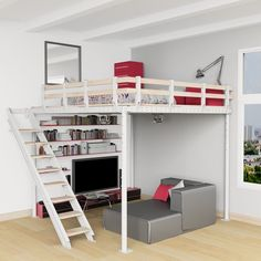 DIY Loft Bed Kit https://fancy.com/things/982434691636267835/DIY-Loft-Bed-Kit?ref=Inspirationfeed