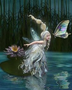 ≍ Nature's Fairy Nymphs ≍ magical elves, sprites, pixies and winged woodland faeries - Fairy Dust, Fairy Land, Fairy Tales, Fantasy Kunst, Fantasy Art, Fantasy Fairies, Elfen Fantasy, Kobold, Elves And Fairies