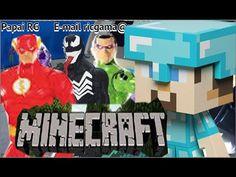 Minecraft jogo game Steve boneco Flash X Venom Marvel Charada Riddler Br...