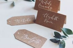 Cotton Blossom Studio — Calligraphy Place Cards Set 10