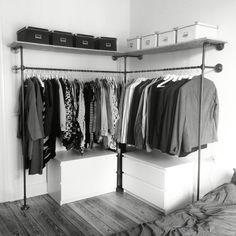 Open wardrobe frame DUO HIGH, manufactured by various. Open wardrobe frame DUO HIGH, manufactured by various. Open wardrobe frame DUO HIGH, manufactured by various. Open wardrobe frame DUO HIGH, manufactured by various. Wardrobe Closet, Closet Bedroom, Bedroom Storage, Ikea Open Wardrobe, Hanging Wardrobe, Wall Storage, Diy Bedroom, Diy Storage, Capsule Wardrobe