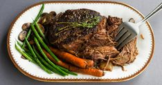 When the weather cools down, thoughts of slow cooked beef, a hearty, delicious meal comes to mind. Slowcooker Beef Roast is so delicious, your family will be begging you for more. Veal Recipes, Pot Roast Recipes, Slow Cooker Recipes, Cooking Recipes, Slow Cooking, Crockpot Meals, Slow Cooker Roast Beef, Beef Pot Roast, Slow Cooked Beef