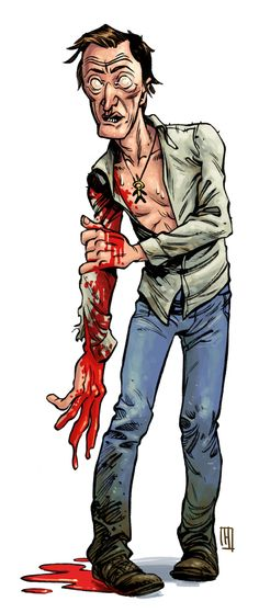 'Pumpkinhead' inspired drawing of Lance Henriksen for October Horror Movie Month by Greg Hinkle #horror #ohmm