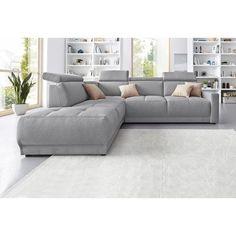 Canapé angle fixe à droite ou à gauche en toile