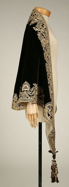 1860s carriage jacket | 1857-1860 ... Mantle ... silk ... American ... at The Metropolitan ...