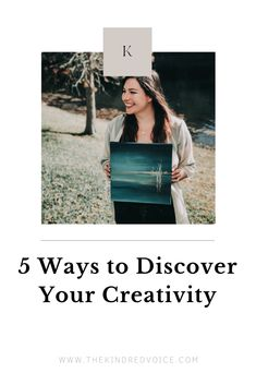 Psst. You have an inner creative. Yep. Here's how to find it. Read more: thekindredvoice.com