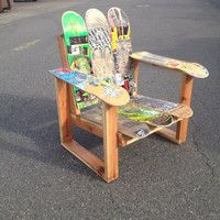 Recycled Skateboard Chair Skateboard Furniture Skateboard Room Recycled Skateboards