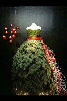 sapin de noël boutique vêtements femme