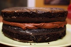 Chocolate Chocolate Cake  Beware this cake is Very rich. Very chocolatey. Very good. Very much in need of a tall, cool ...