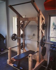 Awesome homemade workout station complete with pull ups bar and weight bench #virileman5
