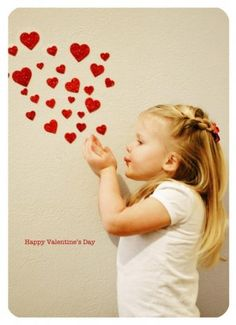 Valentines day photo idea. Or instead of hearts can have bubbles or lips etc