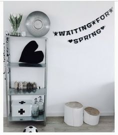 Waiting for spring Workspace Inspiration, Home Decor Inspiration, Make Your Own Banner, Black Banner, Diy Banner, Scandinavian Living, Spring, New Homes, Interior And Exterior