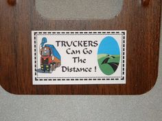 Truckers Refrigerator Magnet Business Card Size by Kats3meows, $4.99