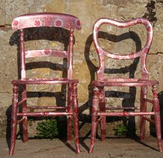 2 chairs! Covered in Tunnocks wrappers!