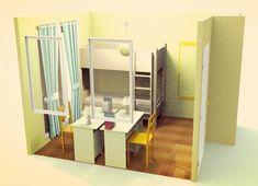 5畳の子供部屋・2段ベッド・縦寄せ