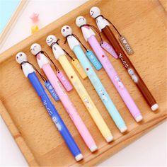 1pcs Material Escolar Kawaii Pen Cute Korean Stationery Candy Color Doll Canetas Gel Stylo Kawaii School Supplies Gel Pen