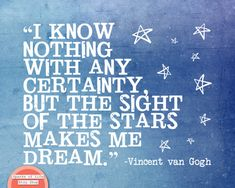 Star print Van Gogh quotes inspirational quote art by SparksOfLife