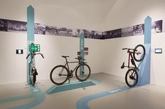 Bicycle Renaissance: An exhibition design showcasing Industry Bicycle Crafts, Bike Shops, Technology Infrastructure, Bicycle Store, Showroom Design, Industrial Revolution, Stand Design, Showcase Design, Renaissance