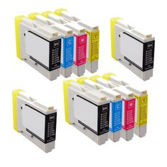 N 2Sets+2BK LC51 BK C Y M Compatible Ink Cartridge for Brother DCP-130C 540CN