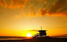 Pass the lifeguard which out sunset