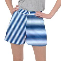 Classic marine stripes pattern, retro stylised striped theme Ripstop Shorts #pants #shorts #ripstop #cowcow #womens #fashion #look #style Short Dresses, Stripes, Shorts, Retro, Classic, Womens Fashion, Swimwear, Pattern, Pants