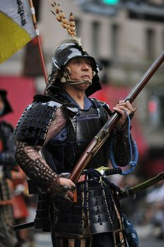 One of the classically Japanese things or concepts that you don't see too often these days are armored samurai warriors on the streets of Tokyo! These men had just come from a firing a salute…
