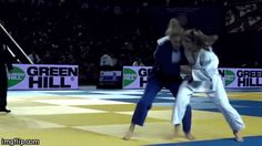 So great to see a big and difficult throw like O-guruma!