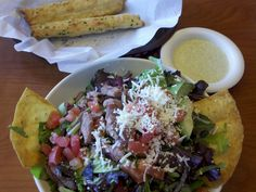 Fiesta Salad and breadsticks at @Stonefire Grill #STONEFIREGRILL