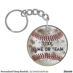 Personalized Cheap Baseball Team Gifts: Grunge Baseball Keychains CLICK HERE: https://www.zazzle.com/z/ytev5?rf=238147997806552929 Cool dirty gift ideas for baseball players. Cool baseball souvenirs and baseball goodies bag stuffers.  Hundreds of personalized baseball team gift ideas HERE: http://www.zazzle.com/littlelindapinda/gifts?cg=196556138924326857&rf=238147997806552929  Custom baseball party favors and baseball party supplies.