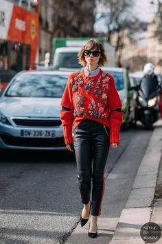 Paris FW 2018 Street Style  Anya Ziourova Anya Ziourova between the fashion shows.