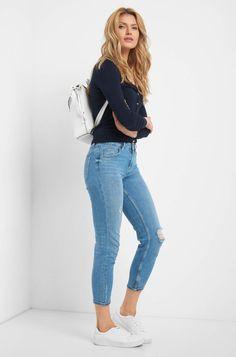 Kardigan s knoflíky Capsule Wardrobe, Mom Jeans, Pants, Fashion, Knit Jacket, Jackets, Breien, Trouser Pants, Moda