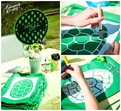 Fun craft ideas for your little ninja's Teenage Mutant Ninja Turtles Birthday Party! Turtle Birthday Parties, Ninja Turtle Birthday, Ninja Turtle Party, Ninja Turtles, Birthday Ideas, Birthday Games, 11th Birthday, Sea Turtles, Ninja Turtle Crafts