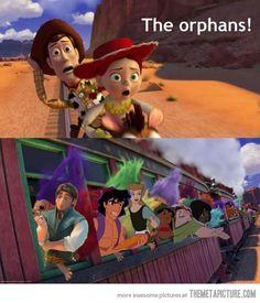 Haha like every character of every Disney movie