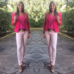 Look de trabalho - Blazer rosa - casual friday