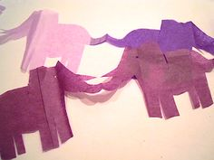 An Elephant a Day: Elephant No. 12: Paper Garland