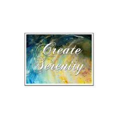 create serenity abstract. Large Poster