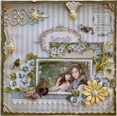 Another amazing page by scrapbook artist Gabrielle Pollacco. I dare you not to be inspired by her blog!!