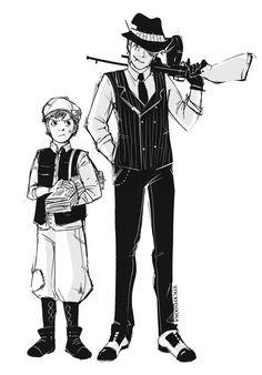 Mafia au! Dipper as paperboy and Bill as a mafia boss