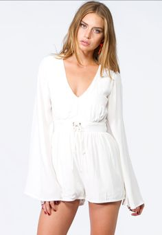 MINK PINK FOLLOW ME TO HEAVEN JUMPSUIT WHITE $88- CALL SPLASH TO ORDER 314-721-6442
