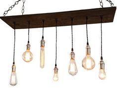 Beam light.Lighting.Edison bulb.ceiling by MakariosDecor on Etsy