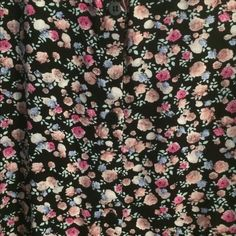 Floral roses circle skirt Floral print waist skirt, flowy circular shape. black buttons in front. Skirts Circle & Skater