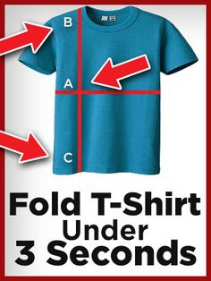 How To Fold a T-Shirt Fast - Best Quick Ways Of Folding T-Shirts Whether you're travelling and want to save space in your suitcase or you just want to know how to fold your T- shirts properly, read our guide below. Folding Tee Shirts, Shirt Folding Board, Fold Shirts, Real Men Real Style, Geile T-shirts, Fashion Tips For Women, Fashion Ideas, Men's Fashion, Fashion Dresses