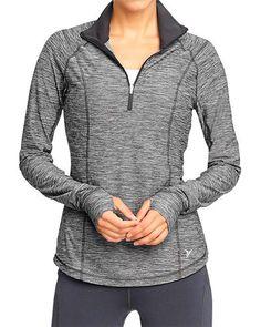 SiempreMujer.com: Chaqueta Old Navy grey half-zip activewear